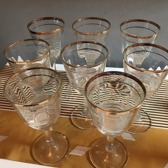 Gold Rimmed Glasses - Set of 8 - Image 5 of 6