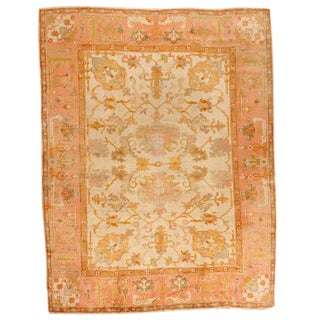 Antique Turkish Oushak Carpet
