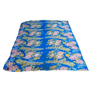1950's Floral Peacock Bed Cover