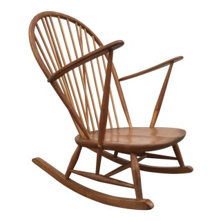 Mid-Century Low Sitting Oak Rocker
