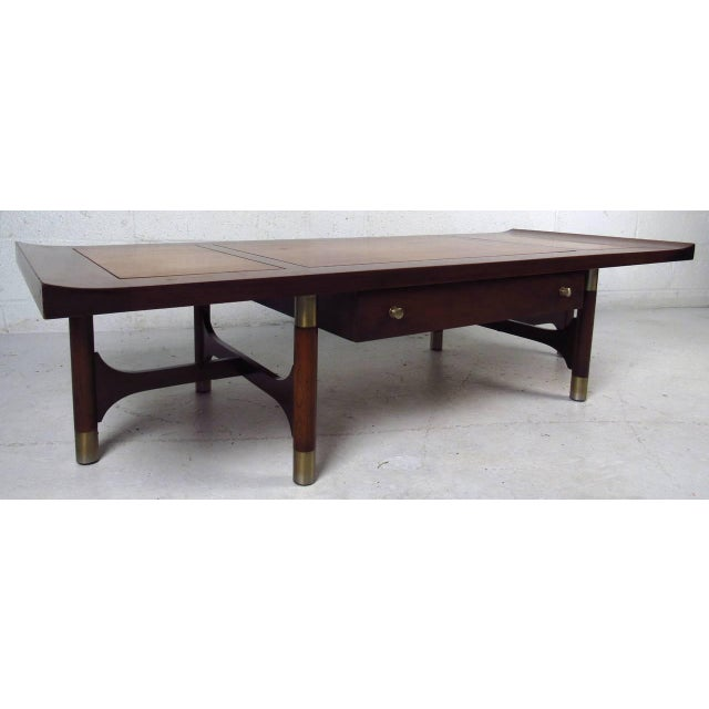 Mid Century Two Tone Coffee Table By Weiman Chairish