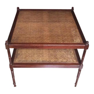 Baker Milling Road British Colonial Cane End Table