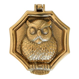 Brass Owl Door Knocker