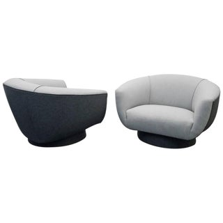 Harvey Probber Mid-Century Swivel Lounge Chairs - A Pair