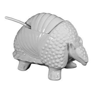 Armadillo White Porcelain Soup Tureen