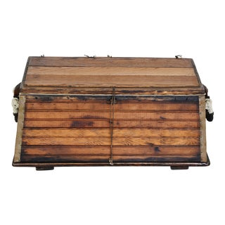1940s Nautical Boat Trunk w/ Rope Handles
