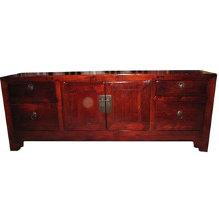 Vintage Chinese Elm Wood Sideboard