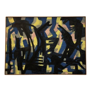 Jacob Semiatin Abstract Artwork - Oil on Canvas (Dated 1957)