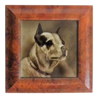 Antique Terrier Dog Tile by George Cartlidge