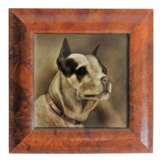 Antique Terrier Dog Tile by George Cartlidge