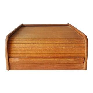 Kalmar Danish Modern Teak Wood Tambour Storage Box