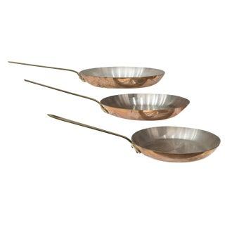 Vintage Mauviel for Sur La Table French Copper Pans - Set of 3