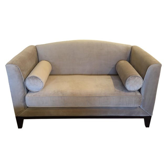Decor rest furniture taupe sofa chairish for Taupe couch decor