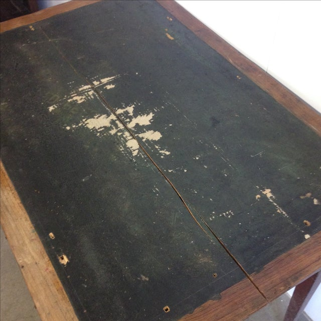 Image of French Vintage Desk With Drawer