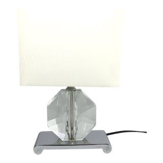 Faceted Lucite Lamp