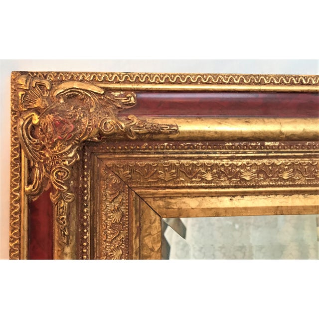 Image of Neoclassical Beveled Faux Gilt Mirror
