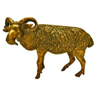 1930s Cast Brass Ram