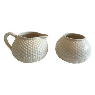 Basket Weave Sugar and Creamer