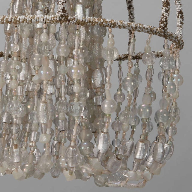 Circa 1900 Unusual All Beaded French Fixture - Image 5 of 5