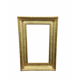 1880s Large Wall Frame, Wood With Real Gold Gilt
