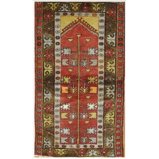 Vintage Hand-Knotted Tribal Rug - 3′4″ × 5′11″