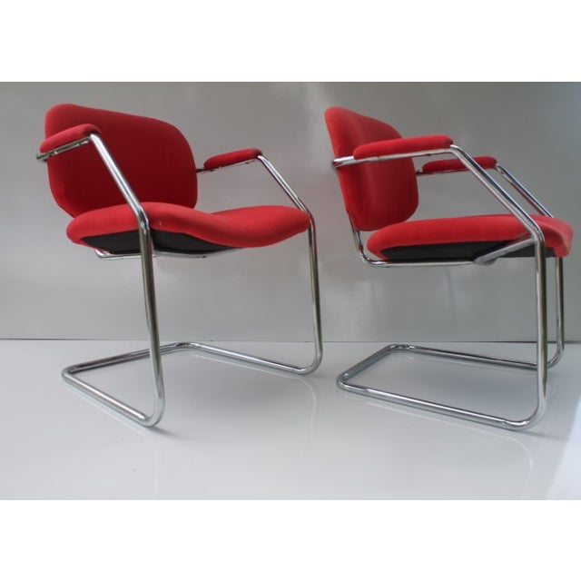 Mid-Century Chrome Accent Chairs - A Pair - Image 4 of 8