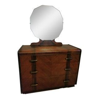 Vintage Mid-Century Dark Wood Dresser