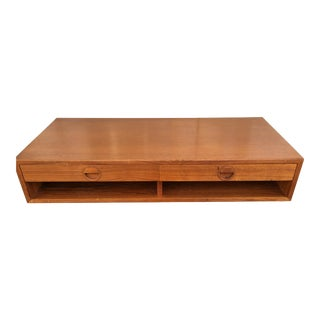 HG Denmark Teak Mid-Century Floating Shelf Unit