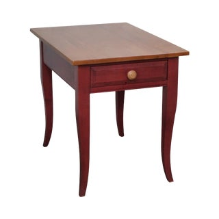 Ethan Allen Country Style 1 Drawer Side Table