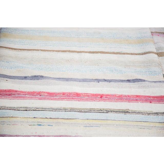 "Vintage Striped Rag Rug - 7'5"" x 9'11"" - Image 5 of 6"