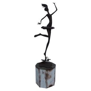 1970's Art Torch Cut Metal Floor Sculpture by Hambleton.