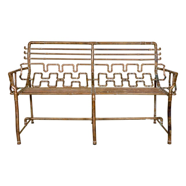 Modern Copper Pipe Bench - Image 1 of 11