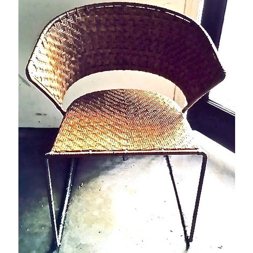 French Woven Side Chairs - A Pair - Image 2 of 5