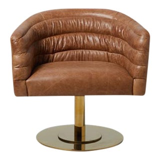 Cupa Brown Leather Chair