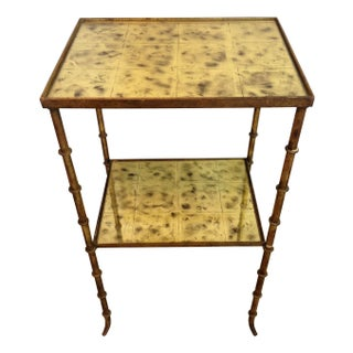 Vintage Mirrored Side Table