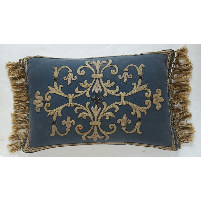 French Embroidered Pillow - Image 2 of 3
