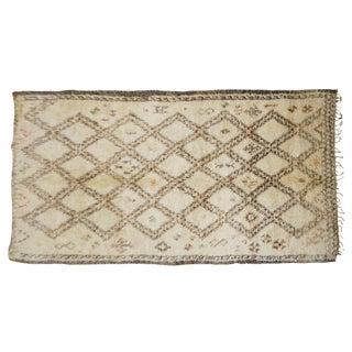 Vintage Moroccan Beni Ourain Rug - 6′4″ × 12′4″