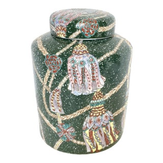 Colorful Ginger Jar With Tassel Design