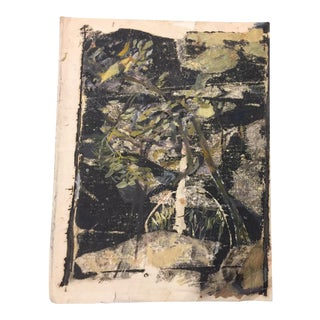 Vintage French Abstract Painting