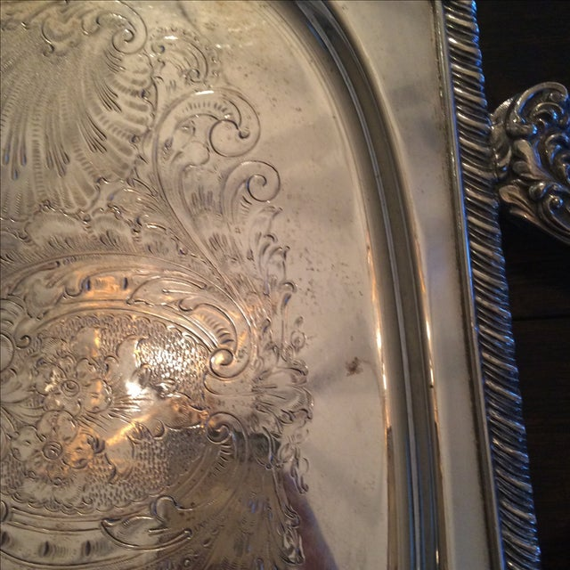 Silverplate Serving Tray - Image 5 of 11