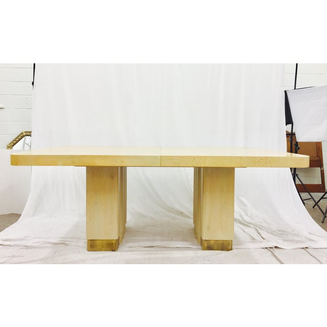 Hickory White Mid Century Burl Dining Table Chairish
