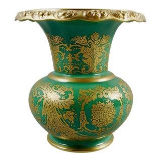 Green & Gold Rosenthale Porcelain Vase