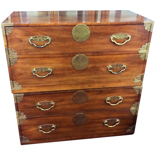 Image of Vintage Henredon Asian Style Two Drawer Chest - 2
