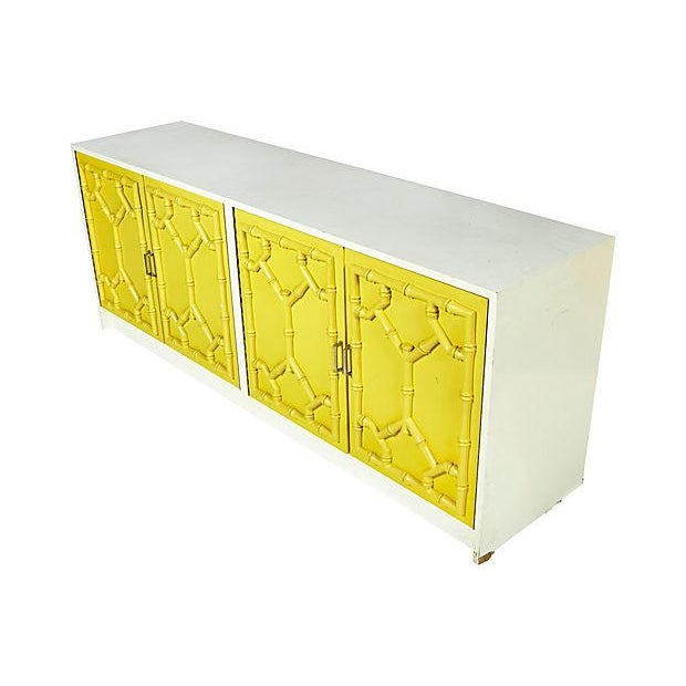 1970s Bamboo-Style Low Dresser - Image 2 of 10