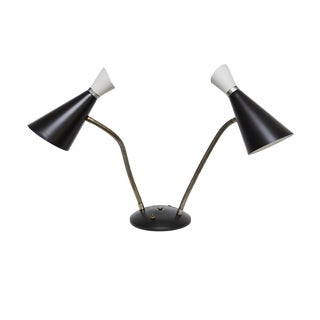 Mid-Century Double Goose Neck Desk Lamp