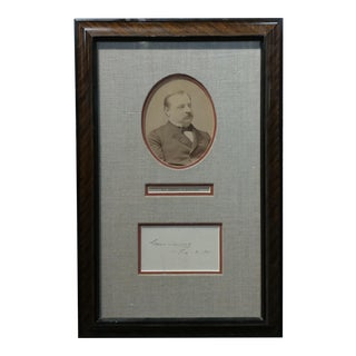 22nd & 24th Us President Grover Clevaland Original Signature With Photograph 1891