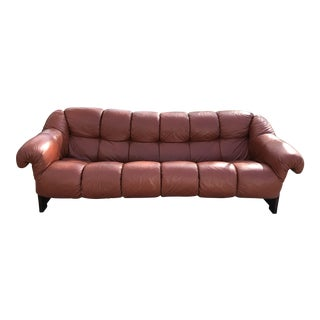 Percival Lafer Leather Brazilian Rosewood Sofa