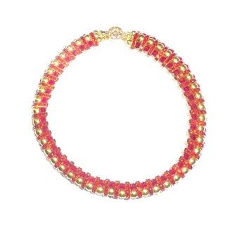 Vintage Red Crystal  Chocker Necklace