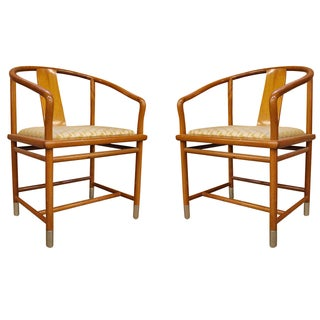 Brueton Ming-Style Chairs - Pair