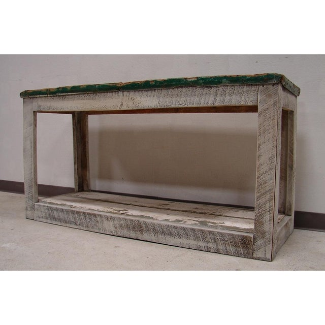 Image of Primitive Console Table Vanity Cabinet